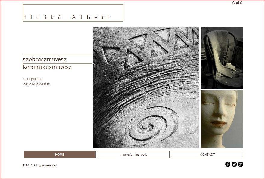 ALBERT Ildiko | Homepage Entwurf