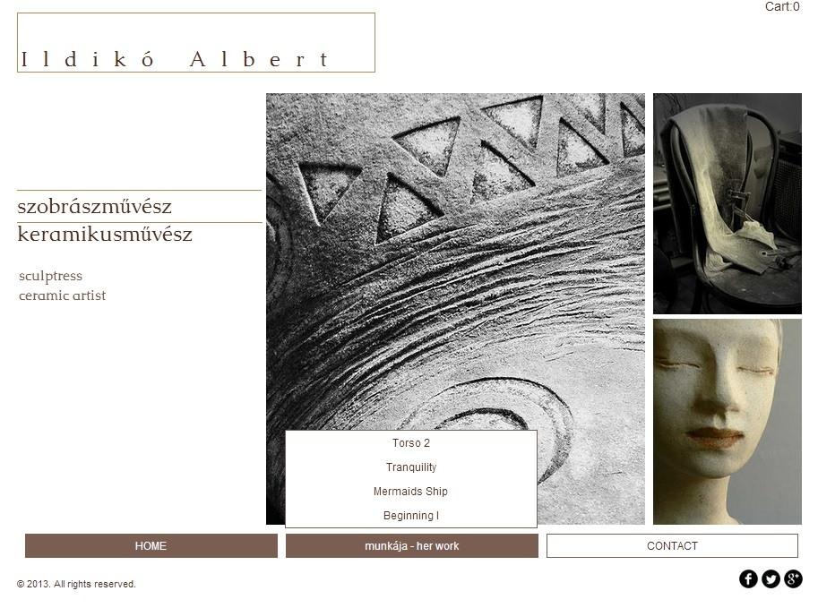 ALBERT Ildiko | Homepage Entwurf Mouseover