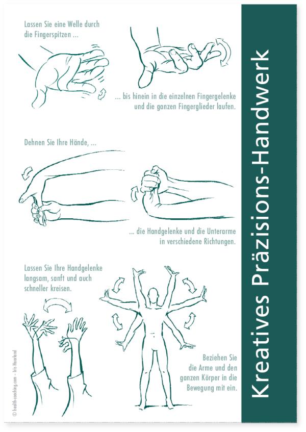Übungen für den Alltag im Büro: Finger-, Hand-, und Schulterübungen von Ausgleichsübungen für den BüroalltagHEALTH-COACHING.com