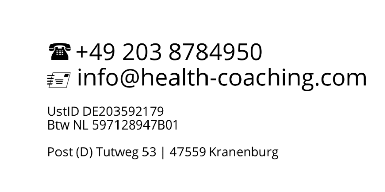 Health Coaching Kontakt